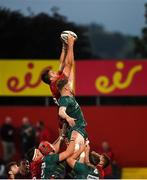 17 August 2018; Jean Kleyn of Munster wins possession in a lineout ahead of Jack O'Sullivan of London Irish during the Keary's Renault pre-season friendly match between Munster and London Irish at Irish Independent Park in Cork. Photo by Diarmuid Greene/Sportsfile