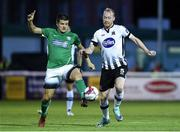 17 August 2018; Jake Kelly of Bray Wanderers in action against Chris Shields of Dundalk during the SSE Airtricity League Premier Division match between Bray Wanderers and Dundalk at the Carlisle Grounds in Bray, Wicklow. Photo by Matt Browne/Sportsfile