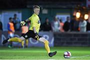 17 August 2018; Bray Wanderers 17 year old goalkeeper Enda Minogue in action against Dundalk during the SSE Airtricity League Premier Division match between Bray Wanderers and Dundalk at the Carlisle Grounds in Bray, Wicklow. Photo by Matt Browne/Sportsfile