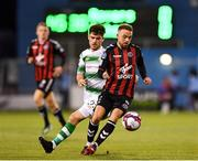 17 August 2018; Keith Ward of Bohemians in action against Aaron Bolger of Shamrock Rovers during the SSE Airtricity League Premier Division match between Shamrock Rovers and Bohemians at Tallaght Stadium in Dublin. Photo by Seb Daly/Sportsfile