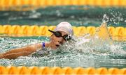 17 August 2018; Mayo ladies fotballer and Australian rules footballer Cora Staunton during a Charity race at day five of the World Para Swimming Allianz European Championships at the Sport Ireland National Aquatic Centre in Blanchardstown, Dublin. Photo by David Fitzgerald/Sportsfile