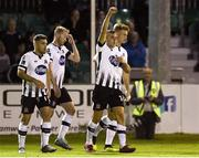 17 August 2018; Dylan Connolly of Dundalk celebrates after scoring his side's third goal during the SSE Airtricity League Premier Division match between Bray Wanderers and Dundalk at the Carlisle Grounds in Bray, Wicklow. Photo by Matt Browne/Sportsfile