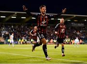 17 August 2018; Eoghan Stokes of Bohemians celebrates after scoring his side's first goal during the SSE Airtricity League Premier Division match between Shamrock Rovers and Bohemians at Tallaght Stadium in Dublin. Photo by Seb Daly/Sportsfile