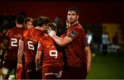 17 August 2018; Jean Kleyn of Munster with team-mate James Hart after the Keary's Renault pre-season friendly match between Munster and London Irish at Irish Independent Park in Cork. Photo by Diarmuid Greene/Sportsfile