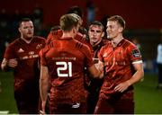 17 August 2018; Mike Haley of Munster with team-mate Liam Coombes after the Keary's Renault pre-season friendly match between Munster and London Irish at Irish Independent Park in Cork. Photo by Diarmuid Greene/Sportsfile