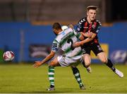 17 August 2018; Danny Grant of Bohemians in action against Ethan Boyle of Shamrock Rovers during the SSE Airtricity League Premier Division match between Shamrock Rovers and Bohemians at Tallaght Stadium in Dublin. Photo by Seb Daly/Sportsfile
