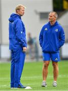 17 August 2018; Leinster head coach Leo Cullen, left, and senior coach Stuart Lancaster ahead of the Bank of Ireland Pre-season Friendly match between Leinster and Newcastle Falcons at Energia Park in Dublin. Photo by Ramsey Cardy/Sportsfile