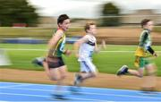 18 August 2018; Fergal O'Toole from Tullow Grange, Co.Carlow, left, competing in the U10 100m Boys event during day one of the Aldi Community Games August Festival at the University of Limerick in Limerick. Photo by Sam Barnes/Sportsfile