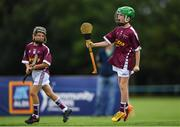 18 August 2018; Jack Farrell of Clarinbridge, Co. Galway, celebrates in the Hurling U11 event during day one of the Aldi Community Games August Festival at the University of Limerick in Limerick. Photo by Harry Murphy/Sportsfile
