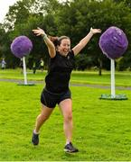 18 August 2018; parkrun participant Lisa Shine, from Cabinteely, Dublin, pictured at the Longford parkrun where Vhi hosted a special event to celebrate their partnership with parkrun Ireland. Vhi ambassador and Olympian David Gillick was on hand to lead the warm up for parkrun participants before completing the 5km free event. Parkrunners enjoyed refreshments post event at the Vhi Relaxation Area where a physiotherapist took participants through a post event stretching routine.   parkrun in partnership with Vhi support local communities in organising free, weekly, timed 5k runs every Saturday at 9.30am.To register for a parkrun near you visit www.parkrun.ie. Photo by Seb Daly/Sportsfile