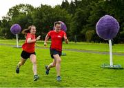 18 August 2018; parkrun participants Anna Shine, from Cabinteely, Dublin, Julian Callan, from Poppintree, Dublin, pictured at the Longford parkrun where Vhi hosted a special event to celebrate their partnership with parkrun Ireland. Vhi ambassador and Olympian David Gillick was on hand to lead the warm up for parkrun participants before completing the 5km free event. Parkrunners enjoyed refreshments post event at the Vhi Relaxation Area where a physiotherapist took participants through a post event stretching routine.   parkrun in partnership with Vhi support local communities in organising free, weekly, timed 5k runs every Saturday at 9.30am.To register for a parkrun near you visit www.parkrun.ie. Photo by Seb Daly/Sportsfile