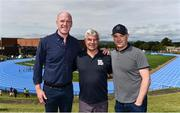 18 August 2018; In attendance during day one of the Aldi Community Games August Festival are, from left, Aldi Ambassador Paul O'Connell, left, University of Limerick Director of Sport Dave Mahedy, and Galway Hurling manager Micheál Donoghue at the University of Limerick in Limerick. Photo by Sam Barnes/Sportsfile