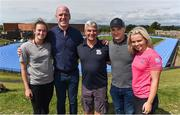 18 August 2018; In attendance during day one of the Aldi Community Games August Festival are, from left, World U20 4x100m relay silver medallst, Ciara Neville, Aldi Ambassador Paul O'Connell,  University of Limerick Director of Sport Dave Mahedy, Galway Hurling manager Micheál Donoghue and World U20 4x100m relay silver medallist Molly Scott, at the University of Limerick in Limerick. Photo by Sam Barnes/Sportsfile