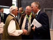 18 August 2018; John Delaney, CEO, Football Association of Ireland, in conversation with Tommy Lewis, Tipperary Southern & District League, left, and Peter Harrington, Munster FA, prior to the Football Association of Ireland Annual General Meeting at the Rochestown Park Hotel in Cork. Photo by Stephen McCarthy/Sportsfile