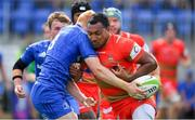 18 August 2018; David Halaifonua of Coventry is tackled by Gavin Mullin of Leinster during the Pre-season Friendly match between Leinster Development and Coventry at Energia Park in Dublin. Photo by Brendan Moran/Sportsfile