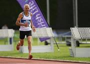 18 August 2018; Joe Gough of West Waterford A.C., M65, competing in the 800m event during the Irish Life Health National Track & Field Masters Championships at Tullamore Harriers Stadium in Offaly. Photo by Piaras Ó Mídheach/Sportsfile