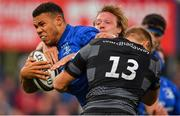 17 August 2018; Adam Byrne of Leinster during the Bank of Ireland Pre-season Friendly match between Leinster and Newcastle Falcons at Energia Park in Dublin. Photo by Brendan Moran/Sportsfile