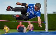 18 August 2018; Patsy O'Connor of Tralee Harriers A.C., Co Kerry, M60, competing in the High Jump event during the Irish Life Health National Track & Field Masters Championships at Tullamore Harriers Stadium in Offaly. Photo by Piaras Ó Mídheach/Sportsfile