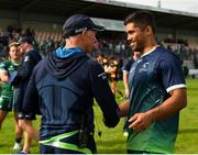 18 August 2018; Connacht head coach Andy Friend, left, and captain Jarrad Butler following the Pre-season Friendly match between Connacht and Wasps at Dubarry Park in Westmeath. Photo by Seb Daly/Sportsfile