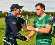 18 August 2018; Connacht head coach Andy Friend, left, and Craig Ronaldson following the Pre-season Friendly match between Connacht and Wasps at Dubarry Park in Westmeath. Photo by Seb Daly/Sportsfile