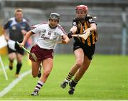 18 August 2018; Aoife Donohue of Galway in action against Grace Walsh of Kilkenny during the Liberty Insurance All-Ireland Senior Camogie Championship semi-final match between Galway and Kilkenny at Semple Stadium in Thurles, Tipperary. Photo by Matt Browne/Sportsfile