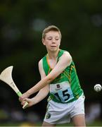 18 August 2018; Benoit Mc Kiernan of Carrick, Co. Leitrim, competing in the Long Puck U12 event during day one of the Aldi Community Games August Festival at the University of Limerick in Limerick. Photo by Harry Murphy/Sportsfile