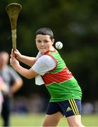 18 August 2018; Jack Danagher of Castlebar, Co. Mayo, competing in the Long Puck U12 event during day one of the Aldi Community Games August Festival at the University of Limerick in Limerick. Photo by Harry Murphy/Sportsfile