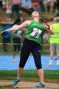 18 August 2018; Ciara Sheehy of Broadford - Drumcollogher, Co. Limerick, competing in the Discus U16 & O14 Girls  event during day one of the Aldi Community Games August Festival at the University of Limerick in Limerick. Photo by Sam Barnes/Sportsfile
