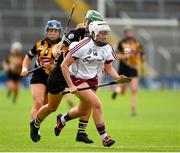 18 August 2018; Ailish O'Reilly of Galway in action against Colette Dormer and Denise Gaule of Kilkenny during the Liberty Insurance All-Ireland Senior Camogie Championship semi-final match between Galway and Kilkenny at Semple Stadium in Thurles, Tipperary. Photo by Matt Browne/Sportsfile