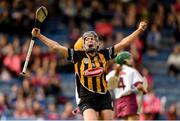 18 August 2018; Katie Power of Kilkenny celebrates after scoring a goal during the Liberty Insurance All-Ireland Senior Camogie Championship semi-final match between Galway and Kilkenny at Semple Stadium in Thurles, Tipperary. Photo by Matt Browne/Sportsfile