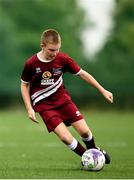 18 August 2018; Michael Fallon of Clarinbridge, Co. Galway competing in the Soccer Outdoor U12 Final event during day one of the Aldi Community Games August Festival at the University of Limerick in Limerick. Photo by Harry Murphy/Sportsfile