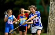 18 August 2018; Shannon Fitzpatrick of The Heath, Co Laois, competing in the Long Puck U14 event during day one of the Aldi Community Games August Festival at the University of Limerick in Limerick. Photo by Harry Murphy/Sportsfile