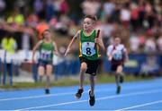 18 August 2018; Nathan Mooney of Ratoath - Rathbeggan, Co. Meath competing in the Relay 4x100m U10 Mixed event during day one of the Aldi Community Games August Festival at the University of Limerick in Limerick. Photo by Sam Barnes/Sportsfile