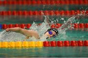 18 August 2018; Toni Shaw of Great Britain on her way to winning the final of the Women's 400m Freestyle S9 event during day six of the World Para Swimming Allianz European Championships at the Sport Ireland National Aquatic Centre in Blanchardstown, Dublin. Photo by David Fitzgerald/Sportsfile