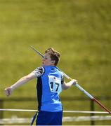 18 August 2018; James Byrne Dowman of Limekiln Templemanor, Co. Dublin, competing in the Javelin U14 event during day one of the Aldi Community Games August Festival at the University of Limerick in Limerick. Photo by Harry Murphy/Sportsfile
