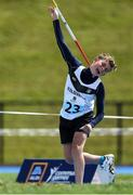 18 August 2018;Paddy Taylor of Kilcullen, Co. Kildare, competing in the Javelin U14 event during day one of the Aldi Community Games August Festival at the University of Limerick in Limerick. Photo by Harry Murphy/Sportsfile