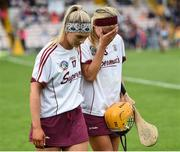 18 August 2018; Galway players Emma Helebert, left, and Sarah Dervan after the Liberty Insurance All-Ireland Senior Camogie Championship semi-final match between Galway and Kilkenny at Semple Stadium in Thurles, Tipperary. Photo by Matt Browne/Sportsfile