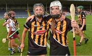 18 August 2018; Kilkenny players Anna Farrell, left, and Davina Tobin celebrate after the Liberty Insurance All-Ireland Senior Camogie Championship semi-final match between Galway and Kilkenny at Semple Stadium in Thurles, Tipperary. Photo by Matt Browne/Sportsfile