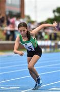 18 August 2018; Ellie Jane O'Brien of Carrick, Co.Leitrim, competing in the 800m U14 & O12 Girls event during day one of the Aldi Community Games August Festival at the University of Limerick in Limerick. Photo by Sam Barnes/Sportsfile