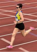 18 August 2018; Denise Toner of Clones A.C., Co Monaghan, W40, competing in the 1500m event during the Irish Life Health National Track & Field Masters Championships at Tullamore Harriers Stadium in Offaly. Photo by Piaras Ó Mídheach/Sportsfile