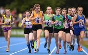 18 August 2018; A general view during the 800m U14 & O12 Girls event during day one of the Aldi Community Games August Festival at the University of Limerick in Limerick. Photo by Sam Barnes/Sportsfile