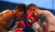 18 August 2018; Paddy Barnes, right, in action against Cristofer Rosales during their WBO World Flyweight Title bout during their WBO World Flyweight Title bout at Windsor Park in Belfast. Photo by Ramsey Cardy/Sportsfile