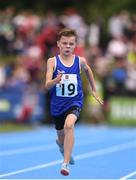 18 August 2018; Cormac Crotty of St Patricks, Co. Cavan, centre, competing in the U12 Boys 100m event during day one of the Aldi Community Games August Festival at the University of Limerick in Limerick. Photo by Sam Barnes/Sportsfile