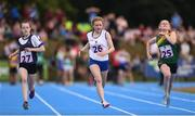 18 August 2018; Abbie Whitelegg of Portarlington, Co. Laois, competing in the 100m U14 & O12 Girls event during day one of the Aldi Community Games August Festival at the University of Limerick in Limerick. Photo by Sam Barnes/Sportsfile