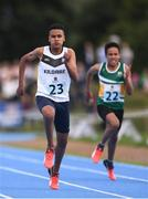 18 August 2018; Runo Ayavoro of St Conleths, Co. Kildare, competing in the 100m U16 & O14 Boys event during day one of the Aldi Community Games August Festival at the University of Limerick in Limerick. Photo by Sam Barnes/Sportsfile