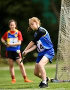 18 August 2018; Ciara Connnolly of Aughrim - Annacurra, Co. Wicklow competing in the Long Puck U14 event during day one of the Aldi Community Games August Festival at the University of Limerick in Limerick. Photo by Harry Murphy/Sportsfile