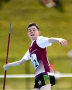 18 August 2018; Corey Looney of Castledaly, Co. Westmeath competing in the Javelin U14 event during day one of the Aldi Community Games August Festival at the University of Limerick in Limerick. Photo by Harry Murphy/Sportsfile