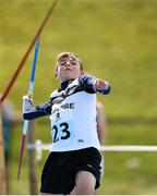 18 August 2018; Paddy Taylor of Kilcullen, Co. Kildare competing in the Javelin U14 event during day one of the Aldi Community Games August Festival at the University of Limerick in Limerick. Photo by Harry Murphy/Sportsfile