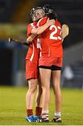 18 August 2018; Cork players Briege Corkery and Orla Cotter react after the Liberty Insurance All-Ireland Senior Camogie Championship semi-final match between Cork and Tipperary at Semple Stadium in Thurles, Tipperary. Photo by Matt Browne/Sportsfile