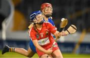 18 August 2018; Orla Cronin of Cork in action against Karen Kennedy of Tipperary during the Liberty Insurance All-Ireland Senior Camogie Championship semi-final match between Cork and Tipperary at Semple Stadium in Thurles, Tipperary. Photo by Matt Browne/Sportsfile